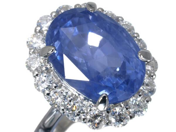 プラチナ サファイア14ct ダイヤモンドリング